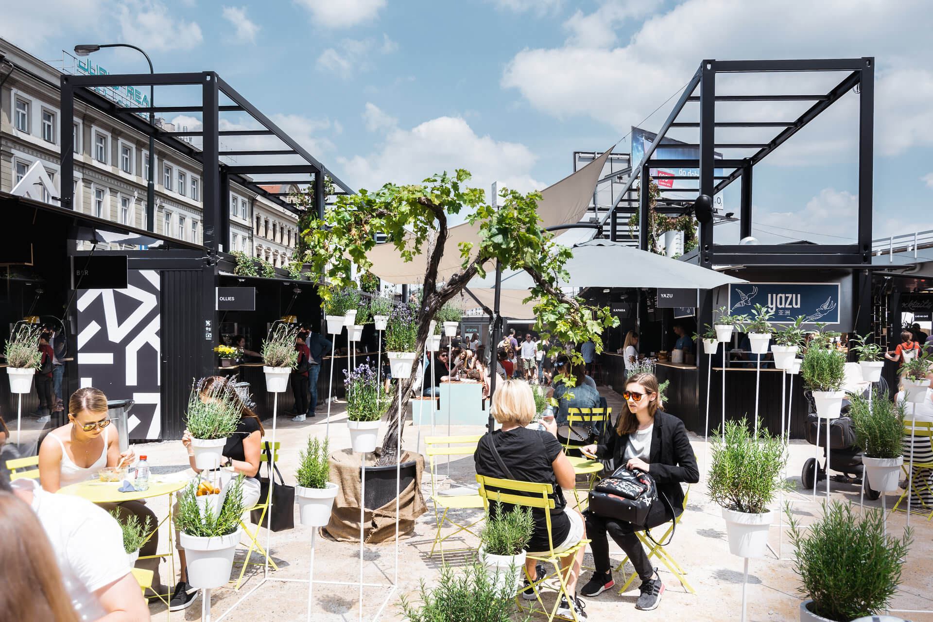 A container village for art, education, food & entertainment located in the heart of Prague.